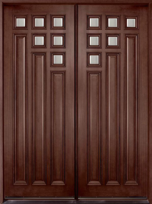 Solid Wood Exterior Double Front Door 598 x 800
